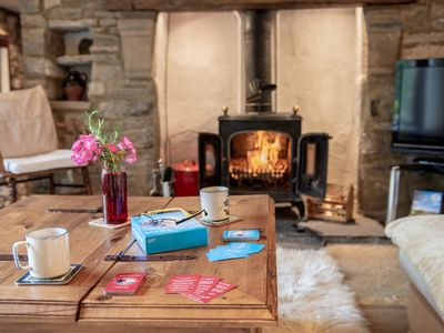 Warm and cosy up in front of the multi fuel burner