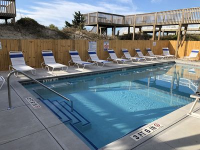 Photo for LARGEST OCEANFRONT POOL ON OIB 1/4 Mile East of Pier 6 Bedroom 4 Bath SLEEPS 22