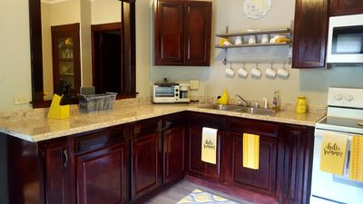 Full kitchen with semi open concept