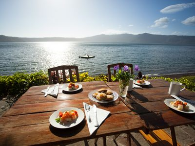 Photo for NEW LOWER PRICE Waterfront Beach Home on the Laguna De Apoyo Eco Reserv