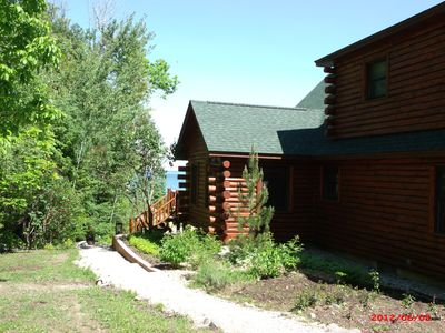 Photo for Fully equipped LARGE 5 bedroom log cabin for families on Grand Traverse Bay