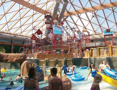 Indoors and out water park is so much fun!