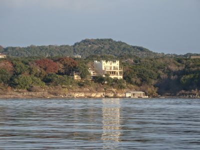 Photo for Lakefront Castle House With Multi-level Decks Sleeps 16, Private Cove and Dock