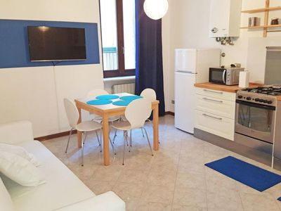 Photo for Filippini Blue apartment in Verona with WiFi & air conditioning.