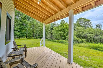 This 4-bedroom, 2-bath vacation rental can accommodate 8 guests.