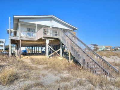 Photo for Pet Friendly-Oceanfront Duplex-2 BR/1 Bath-Affordable Family Cottage-Sleeps 6