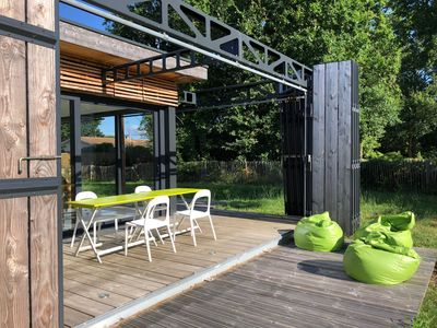 Photo for Atypical architect house for 10 people in Lège Cap Ferret