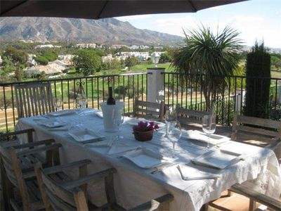 Photo for Elegant Spanish villa with golf views & ADSL, 3km from Puerto Banus