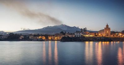 Photo for Marigrè Beautiful holiday home by the sea with garden and Etna view for 2 to 8 people