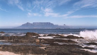 Photo for BEACHFRONT Holiday Home in small bay Bloubergstrand