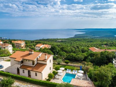 Photo for This 6-bedroom villa for up to 12 guests is located in Labin and has a private swimming pool, air-co