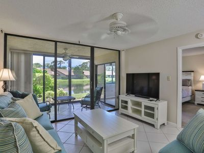 Photo for Beautiful Water View Condo in the Meadows, WIFI, Community Pool, Close To Restaurants And Shopping