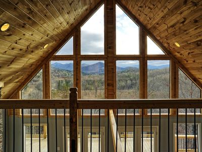 Photo for Peace of Heaven ~ NEW 2019 ~ Incredible 280* Mountain Views, Secluded, Hot Tub