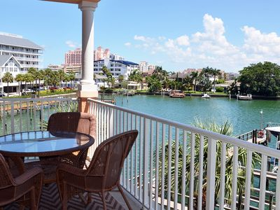 Photo for NEW LISTING! Bayfront condo w/balcony & shared pool/hot tub- 1/4 mile to beach