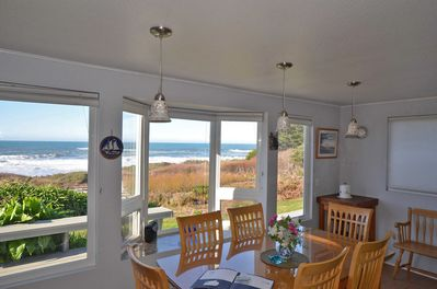 Dinning/Kitchen: wall of windows with killer views