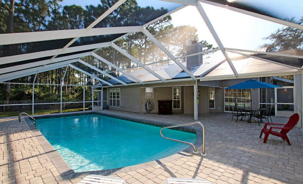 Private Swimming Pool Fenced Yard Seacrest Florida