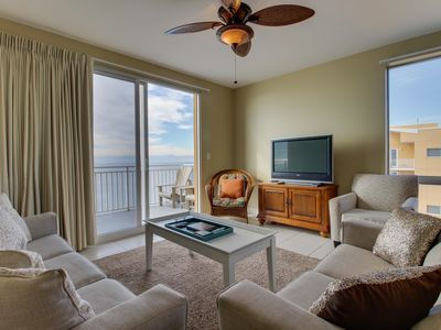 Photo for NEW LISTING! Spacious beachfront condo with resort splash pad and pool