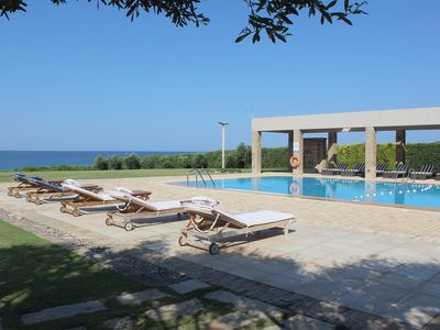 Photo for Luxury Villa on Sandy Beach, Beautiful Garden, Private Pool and Games Room