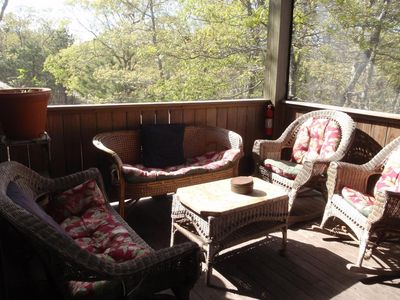 Photo for 31 day minimum stay! In Town End of Road Charmer. WiFi, Screen Porch, Central AC