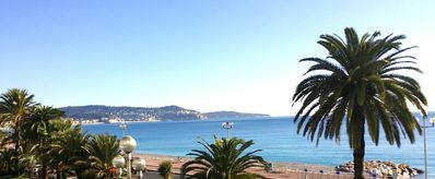 Photo for SUPERB 2 P. ON THE ENGLISH PROMENADE - 180 ° PANORAMIC VIEW ON THE SEA