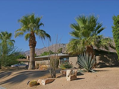 Photo for New: Designer Midcentury Modern Pool Home in Central Palm Springs