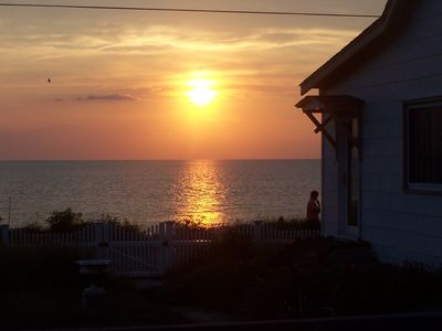 The perfect sunset view from our cottage!