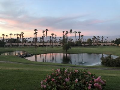 Photo for Gorgeous water view from new villa in Palm Valley Country Club!