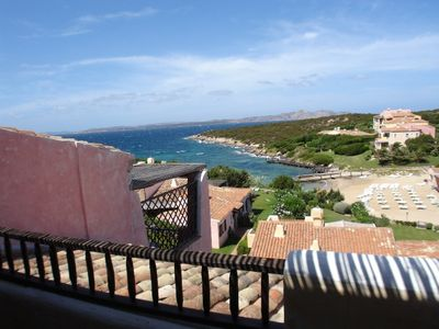 Photo for Apartment in Cala del Faro-Porto Cervo 90 square meters with 2 large terrraze beachfront