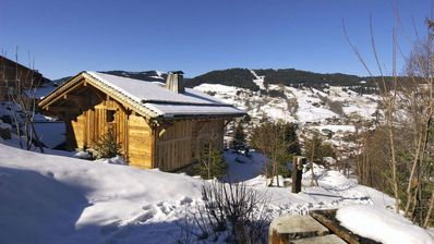 Photo for In a hamlet, a charming chalet, close to Megeve. Sauna and Jacuzzi