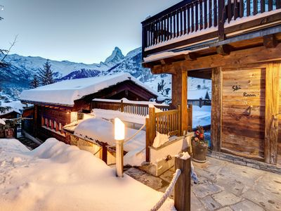 Photo for Top ski chalet in Zermatt (Ski in) with a wonderful view of the Matterhorn