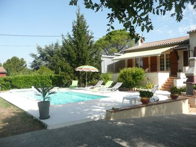 Photo for Villa 100 m2 with swimming pool in fenced garden with trees, oaks, olive trees (2000m2)