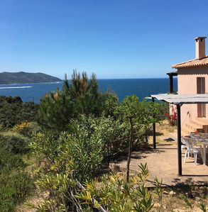 Photo for 2 bedrooms house with all conforts,  fabulous view on the bay of Tiuccia , 20 km from Ajaccio