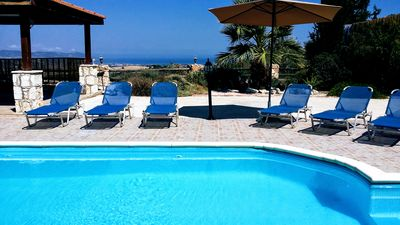 Photo for Amazing views of Ocean, Akamas Peninsular, Evretou Damn from this private villa