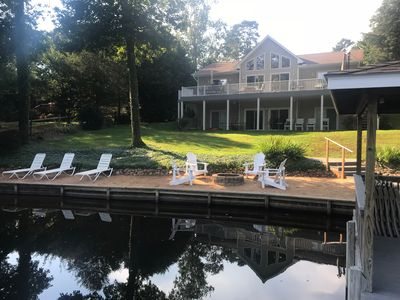 Photo for BEAUTIFULLY FURNISHED WATERFRONT HOME NEAR GOLF COURSE, WINERY, & DINING