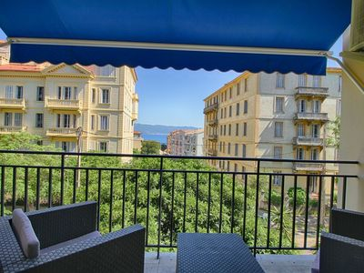 Photo for AJACCIO city center- Apartment terrace sea view F3-339