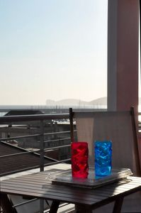 Photo for Red & Blue-Charming apartment with terraces overlooking the sea, 50 m from the beach