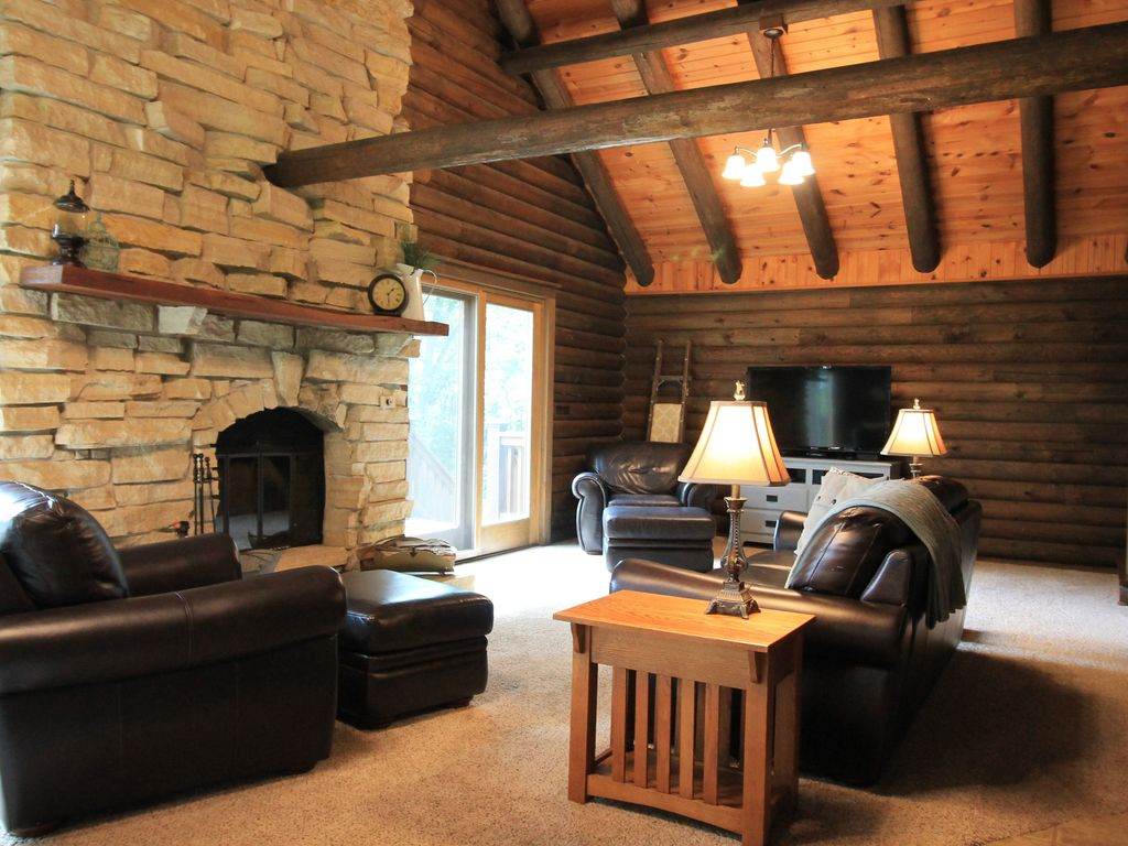 cozy log cabin located outside of fort atki vrbo