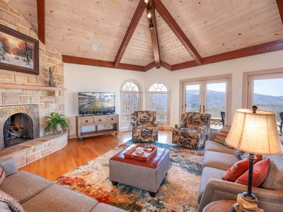 Photo for Upscale Home, Mtn Views, Hot Tub, Grill, Pool Table, King Suite, Near Hiking & Skiing