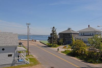 View of Wells Beach public entrance