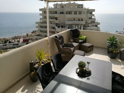 Photo for Penthouse apartment with stunning views just off Spain's best beach