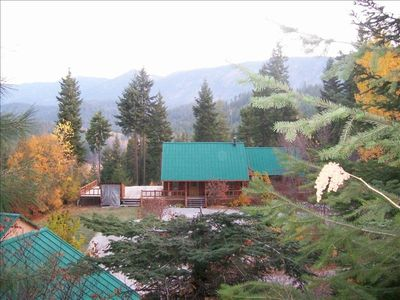 Photo for Secluded Cabin with a View of the Mountains, Plain 2 miles, Leavenworth 18 miles