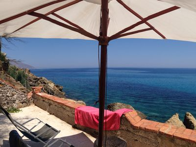 Photo for SunriseInSicily - Villa with private access to the sea