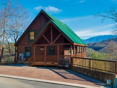 Photo for Cabin w/ spectacular views, private hot tub, & shared, heated pool!