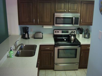 Newly renovated kitchen with new stainless steel appliances