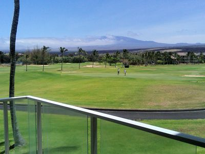 Mauna Kea & Beach Golf course #4 Green  from Lanai