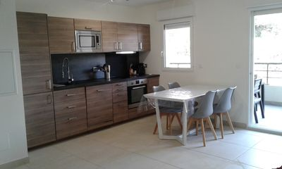 Photo for T3 in new residence 500 meters from the beach (air conditioning and wifi) with parking