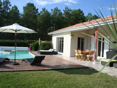 Photo for Charming villa garden and heated swimming pool, 6 persons Andernos baths