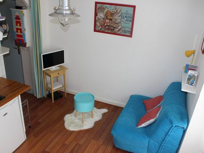 Photo for Nice little apartment in Dinard 200m from the beach Free parking Everything on foot!