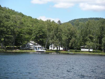 View of property from lake..(yup, it's all ours and it's completely private!)
