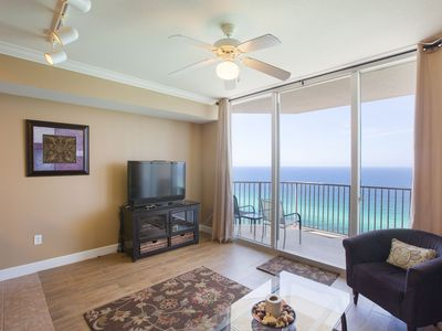 Photo for 1BR2BA Tidewater Condo, 17th Floor, Open Ocean View, Low Rate
